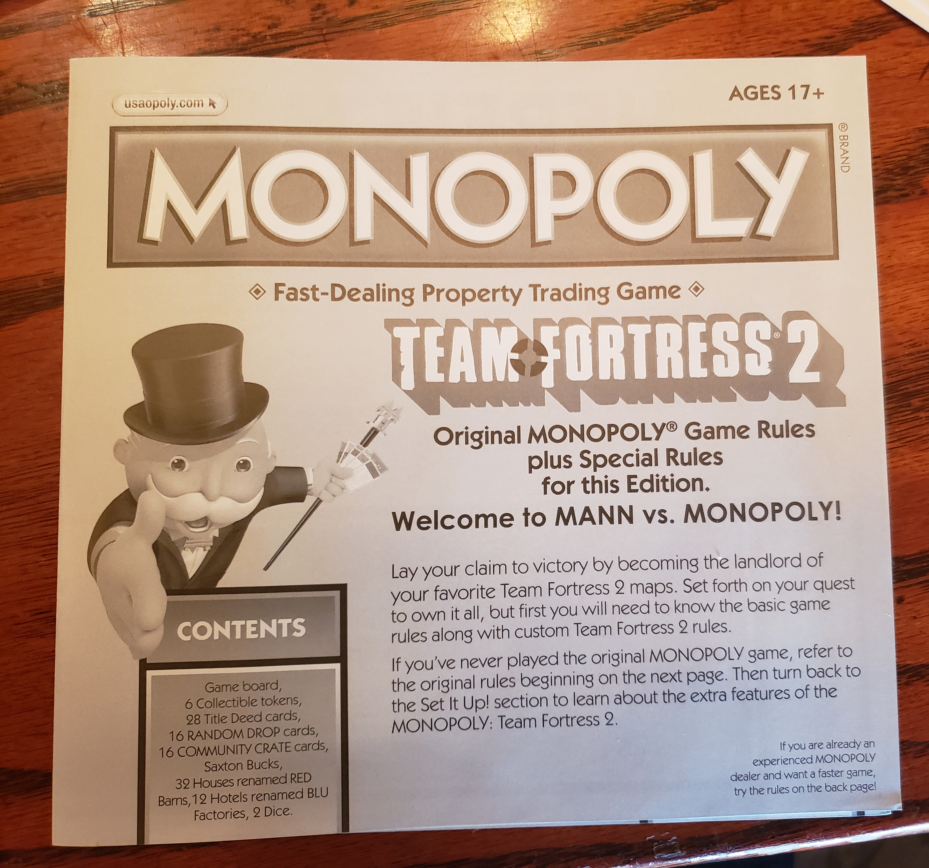 Team Fortress 2 Board Game USAopoly MONOPOLY® Board & Traditional Games Games